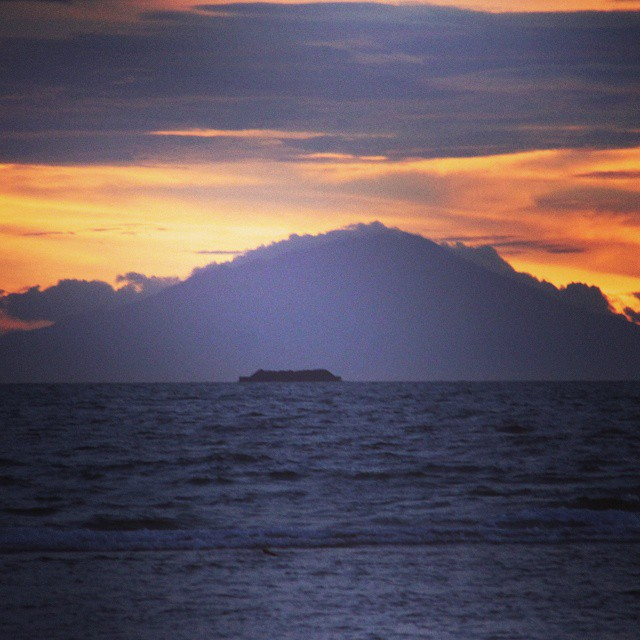 mount krakatau from tidung island